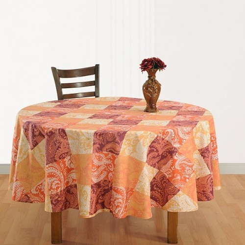 Orange Tiles Round Table Cover – 1320