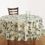 Floral Essence Round Table Linen – 8108