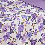 Mauve Bloom Printed Rectangle Table-1657