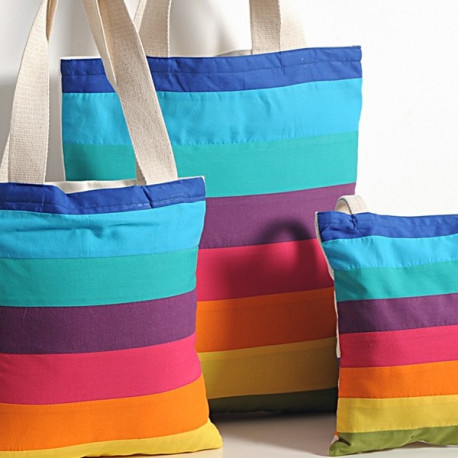Color Stripes Three in One Bags- 861-Wow- Plain