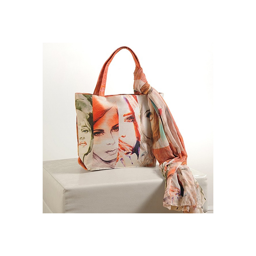 Photo Effect Scarf Bags – SCF-917