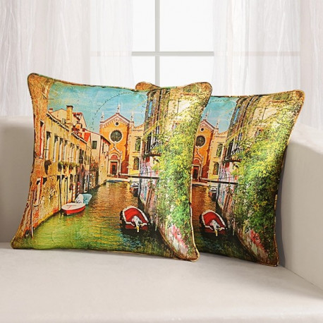 River Digital Printed Cushion Cover- DCC- 1107