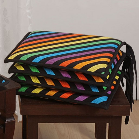 Rainbow Stripes Chair Pads– 1504