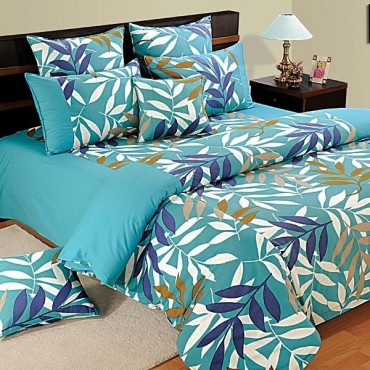 Aqua Leaves Duvet Covers Comforters Quilts Shades Of Paradise 7701