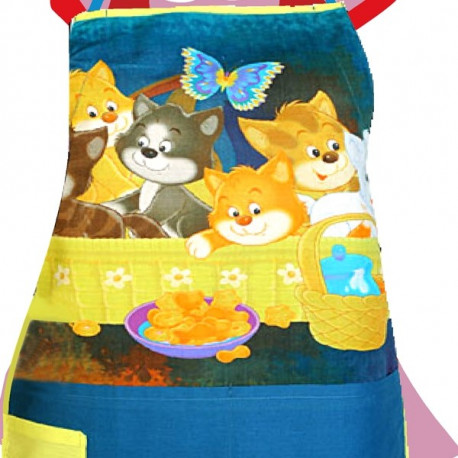 Happy Kittens Kids Apron- KAP-101