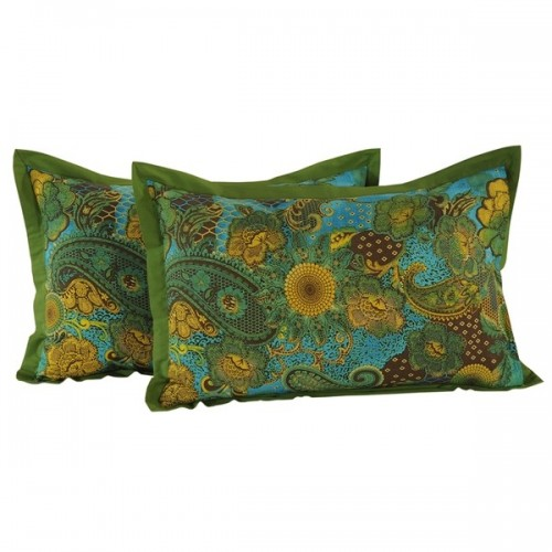 Green Paisley Pillow Covers- 2403