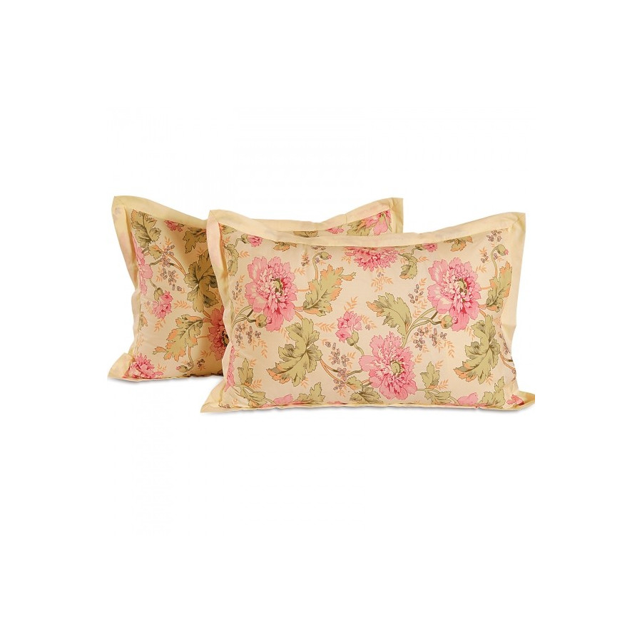 Butter Floral Pillow Cover- 3612