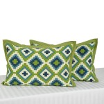 Olive Cross Pillow Covers-1408