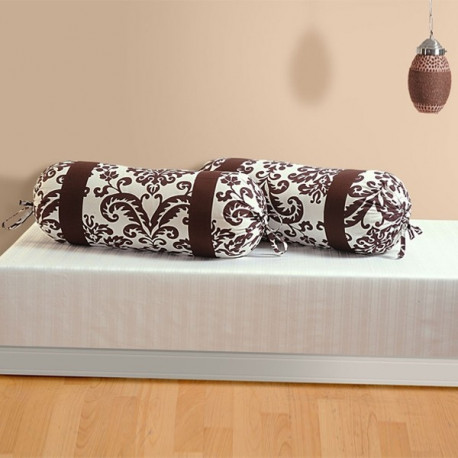Choco Brown Bolster Cover-9009