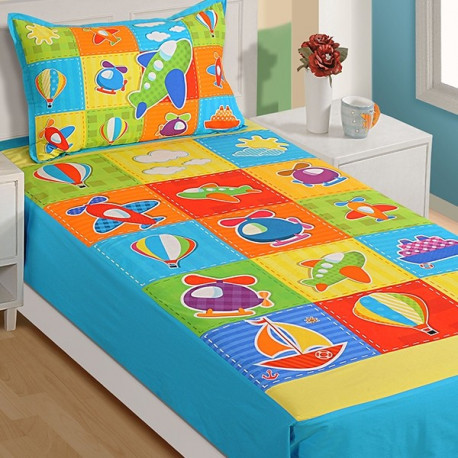 Kids Bedsheet Single- SKB-1003 Aero