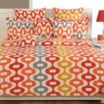 Tangerine Waves Sparkle Bed Sheets- 1270