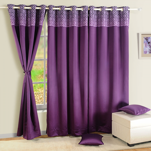 Blackout Curtains-2023 Printed Purple