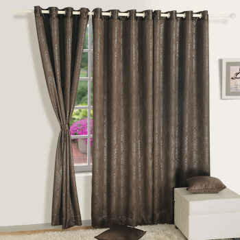 Raw Umber Black Jacquard Blackout Curtains U2013 2053 Part 84