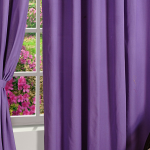 Slate Blue Solid Curtains - 1657