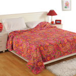 Red Paisley Dohars- Valley of Flower- 2407