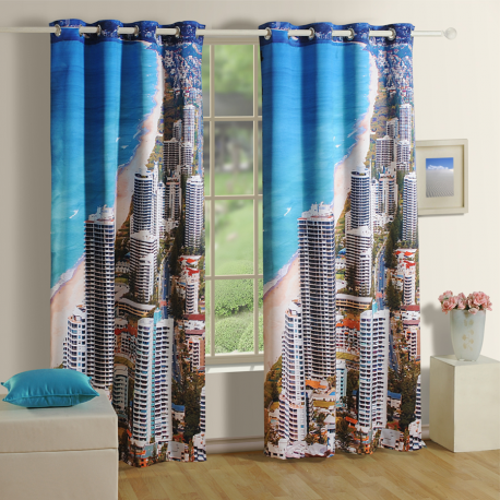 Beach Lounge Curtains- 1101