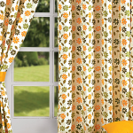 Yellow Daisy Printed Curtains – 5203