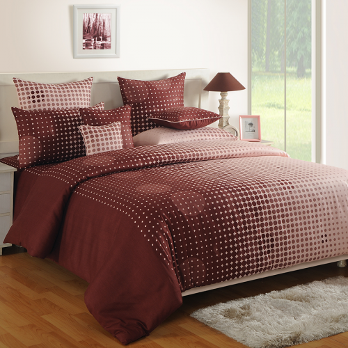 Buy Hazel Polka Dots Satin Cotton Bed Sheets Online Double Bed