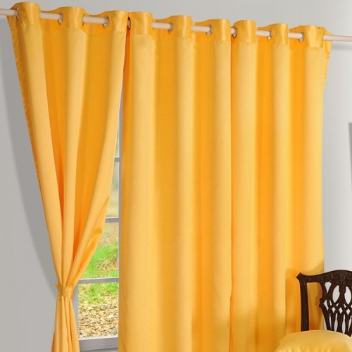 Buy Cyber Yellow Blackout Curtains For Doors Windows Online Swayam India