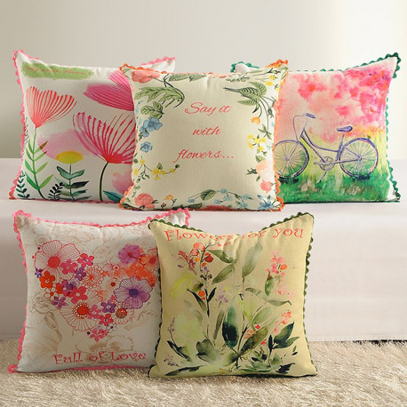 Casement Printed Cushion Covers - 2384 (Set of 5)