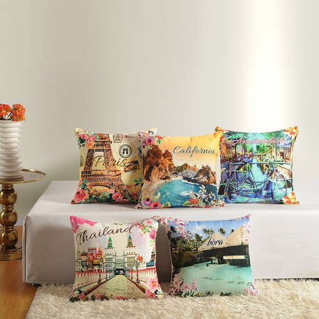 Casement Printed Cushion Covers - 2392 (Set of 5)
