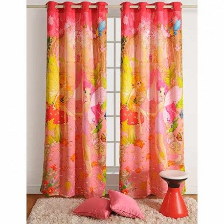 Pink Fairy Kids Curtains- Fairy Friends- 195