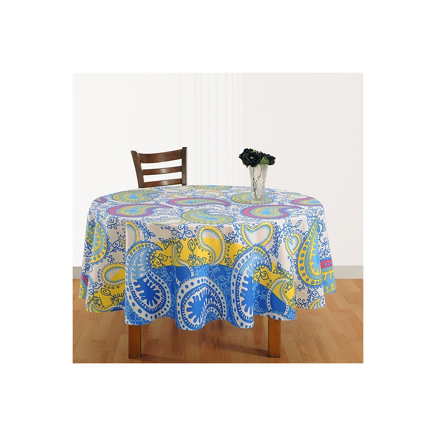 Dazzling Paisley Round Table Cover - 1332