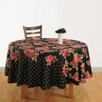 Red Black Round Table Linen – 1938