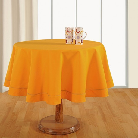 Amber Yellow - Plain Round Table Linen-761