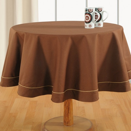 Cinnamon Brown -Plain Round Table Linen-763