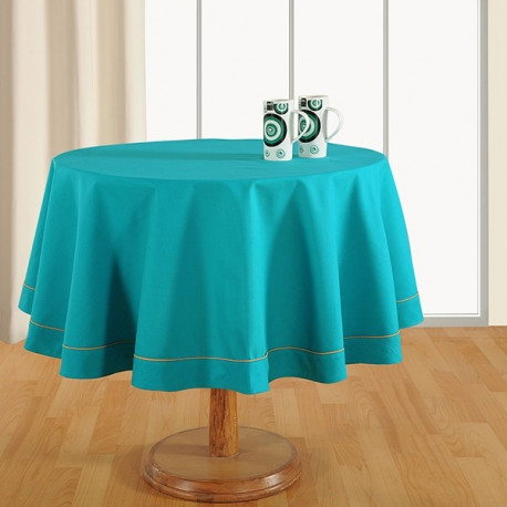 Aqua Blue-Plain Round Table Linen-762