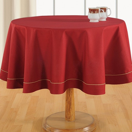 Scarlet Maroon Plain Round Table Linen: 768