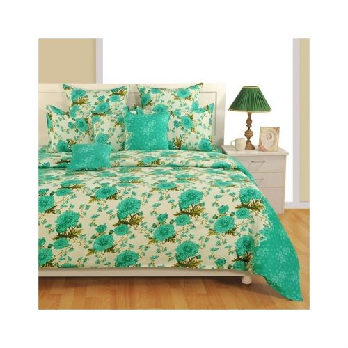 Fluorescent Floral Satin Bed Sheets- Zinnia 1931