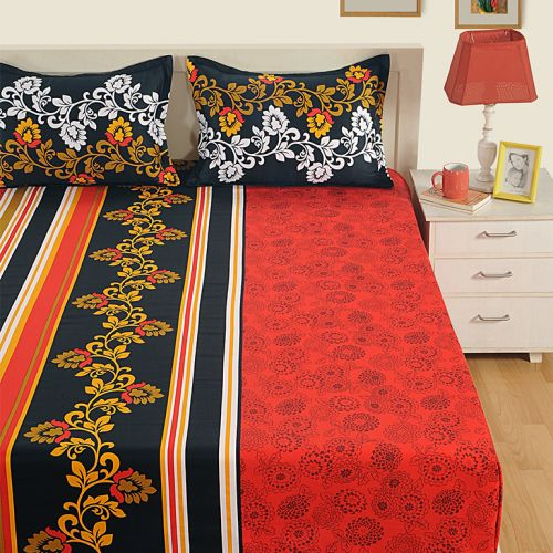 Rich Red Satin Bed Sheets- 1959