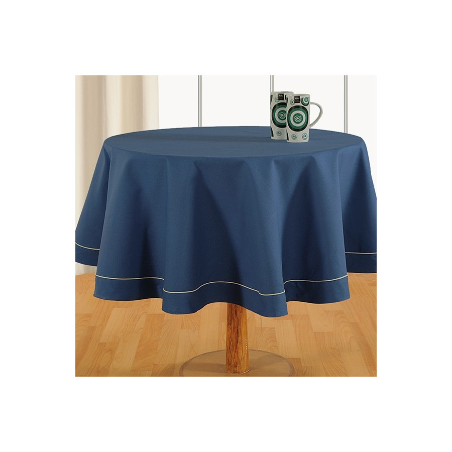 Ink Blue-Plain Round Table Linen-774