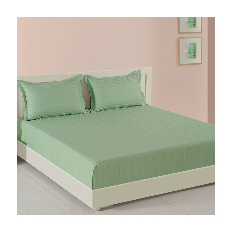 Buy Green Garland Bed Sheets Green Print Fitted Bed Sheets Online
