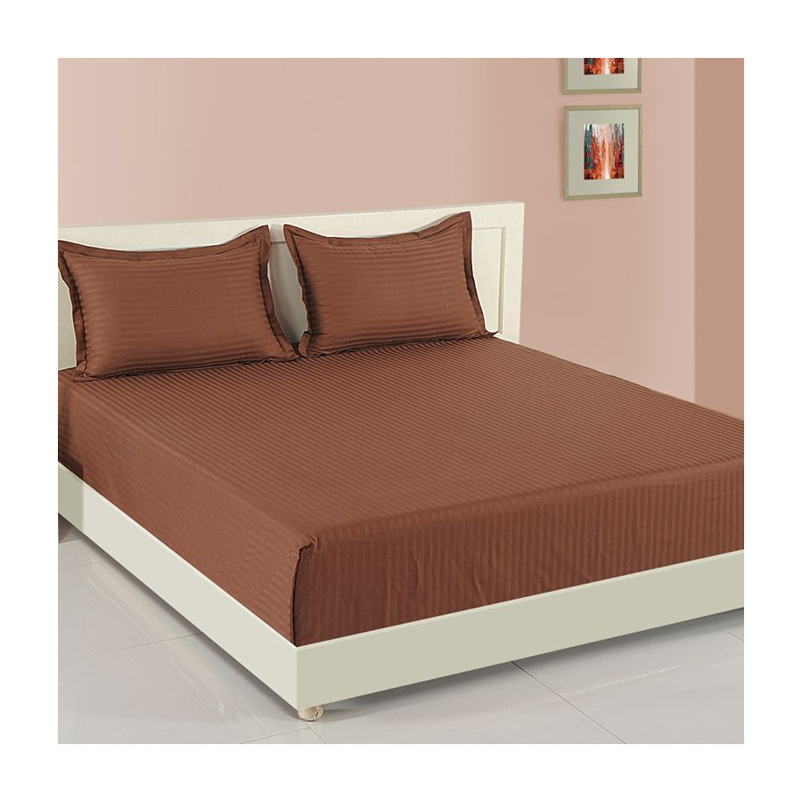Coco Mania Bed Sheet- Walnut Brown