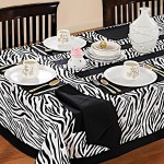 Zebra Printed Rectangular Table Linen-2802
