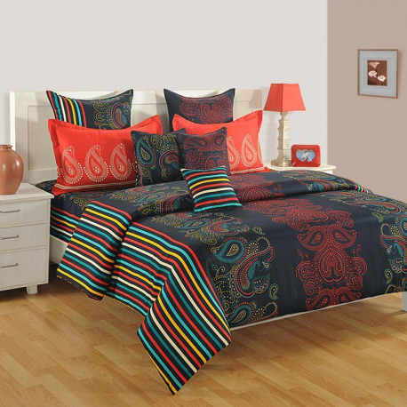 Lush Charm Zinnia Fitted Bed Sheet- 1668