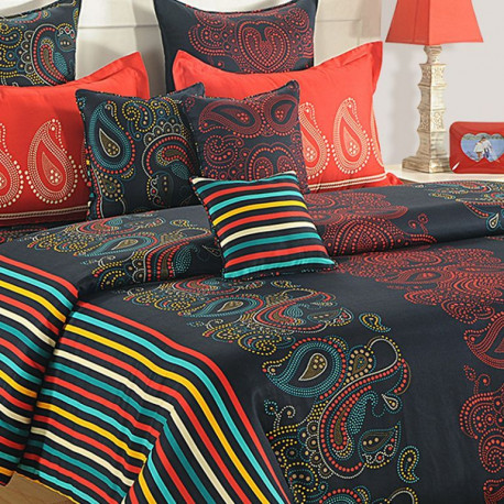 Zinnia Fitted Bed Sheet- 1668