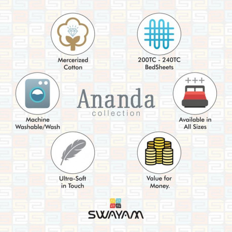Ananda Fitted Bed Sheet - 14006