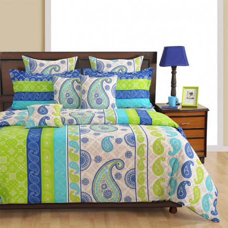 Sparkle Fitted Bed Sheet- 8209