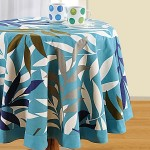 Blue Printed Round Table Linen-7701