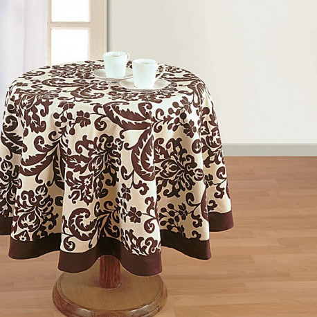 Musk Printed Round Table Linen-9009