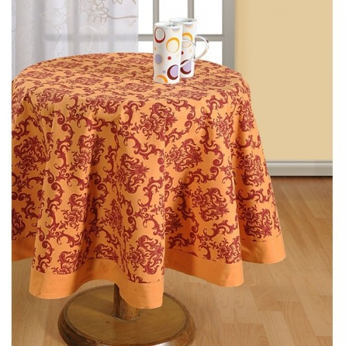 Amber Printed Round Table Linen- 1410