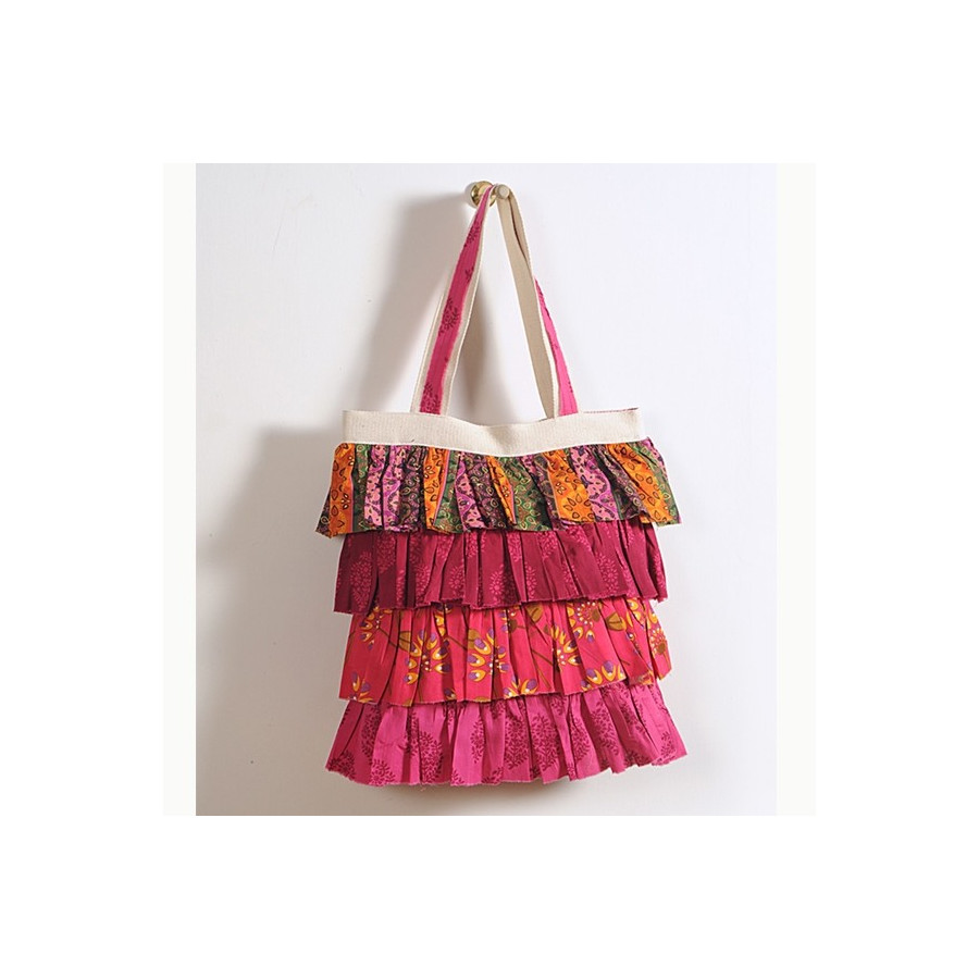 Traditional Red Frilly Bag- Swayam 731