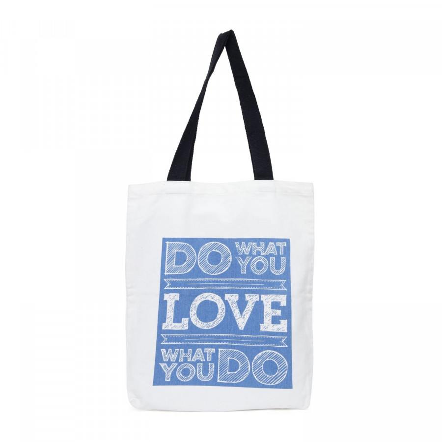 Blue Canvas Graffiti Bag- 506