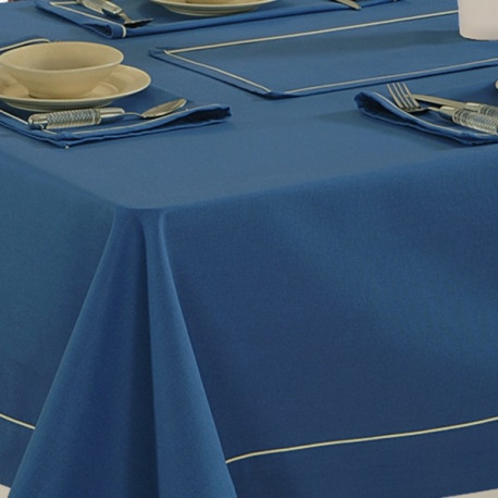 Ink Blue-Plain Rectangular Table Linen- 774