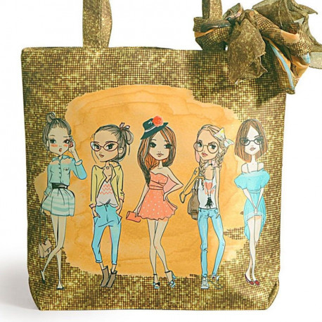 Fashion bag with neck roll scarf - FBS-01