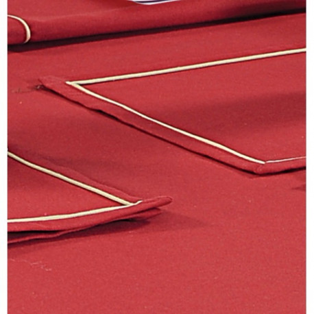 Maroon Rectangle Table Cloth- Scarlet Maroon